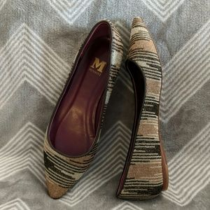 Missoni metallic gold-toned flats (Sz 37)